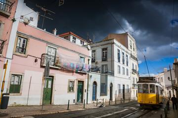 LISBON, PORTUGAL - January 28, 2011: A view of the Alfama neighbourhood