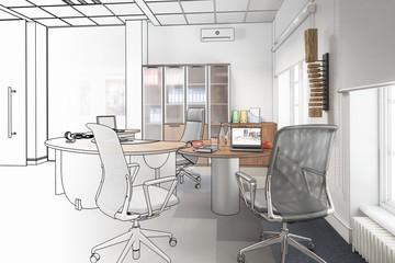Modernes Chefzimmer (Entwurf)