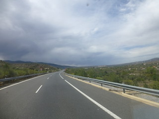 Gergal camino a Guadix en Granada, Andalucia, España