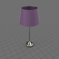 Bedside lamp with narrow shade