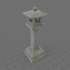 Tall, stone garden lantern