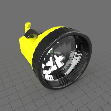 Industrial yellow flashlight