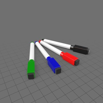 Four whiteboard markers
