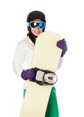 woman snowboarder