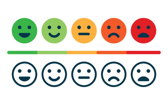 Rating satisfaction. Feedback in form of emotions.