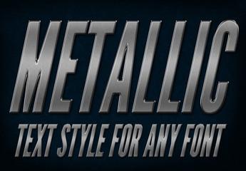 Gray Metallic Text Style