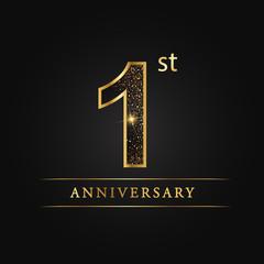 anniversary,aniversary, first years anniversary celebration logotype. 1st anniversary logo