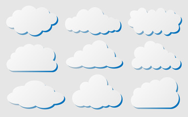 set of cut out clouds for pattern and design,vector illustration