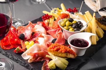 Meat Antipasti plate