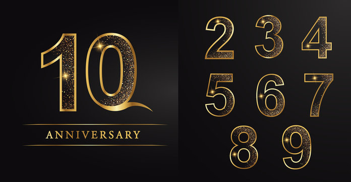 number,numbers,10 aniversary,celebration,golden number