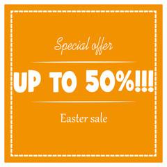 50% Easter sale banner