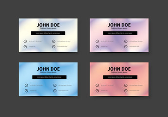 Business Card Layout with Bokeh Background 1