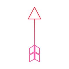 arrow archery icon image vector illustration design  pink line