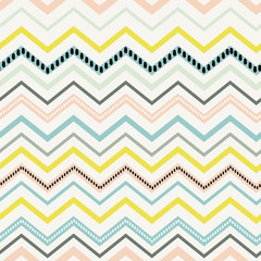chevron pastel colorful spring pink blue yellow pattern seamless vector.