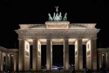 Brandenburg gate Berlin at night