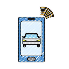 grated smartphone with car transport and used wifi