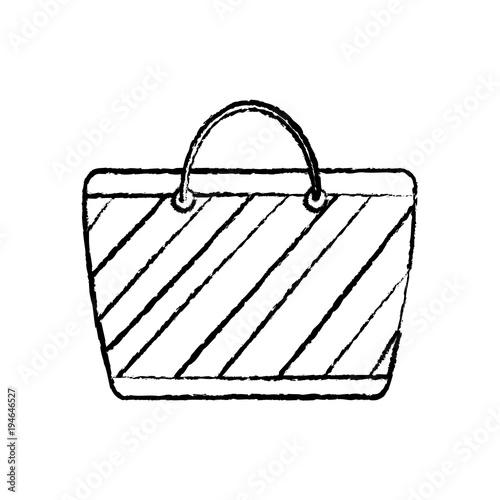 Handbag Or Purse Icon Image Vector Illustration Design Black Sketch Line
