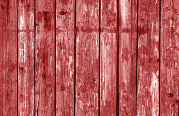 Wooden fence pattern in red tone.