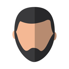 man with beard avatar icon image vector illustration design