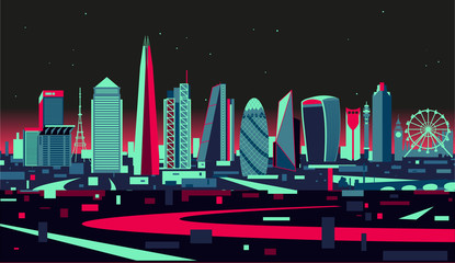 Fotomurales - London City Skyline