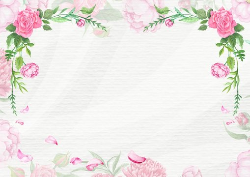 Shabby Chic Spring Card Template