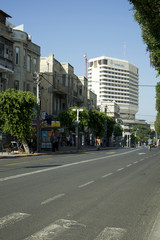 View of street in city