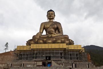 Giant Buddha statue above Thimphu, the capital of Bhutan, Asia