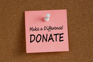 Make a Difference Donate Concept