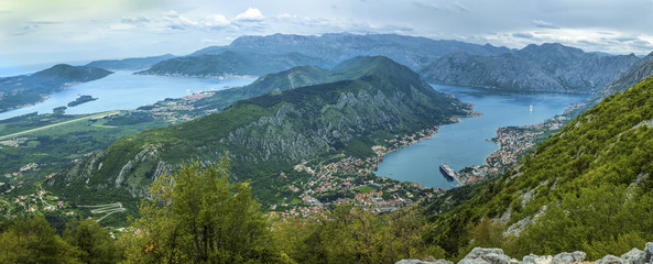 View of beautiful landscape of Kotor town