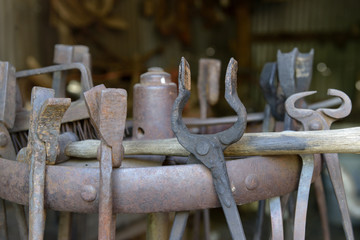 USA, Arizona, Jerome, old forging tools, Gold King Mine