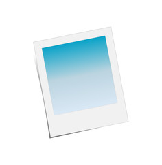 Old Photo Frame Blue background