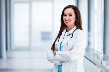 Female doctor with crossed arms