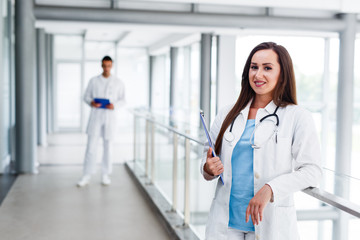 Young doctors takes a break