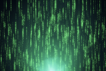 Abstract background of binary code 3d illustration