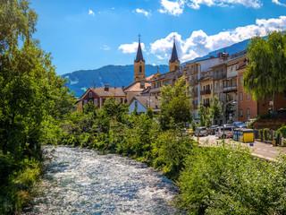 Wunderschöne Altstadt von Bruneck, Südtirol, Italien