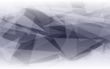 Abstract polygonal shape background. Glowing triangles on dark backdrop. Geometric design. Vector illustration