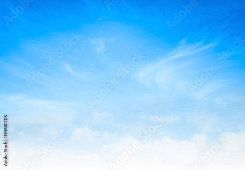 World Environment Day Concept Abstract White Cloud And Blue