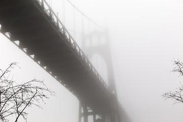 St. John's Bridge in Fog