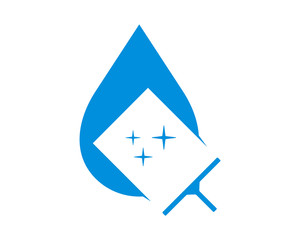 cleaner wiper water droplet liquid image vector icon