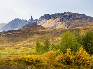 Jagged Peaks in Icelandic Landscape