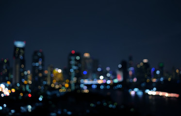 Cityscape bokeh abstract background, beautiful city light at night view.