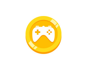 Coin Game Icon Logo Design Element