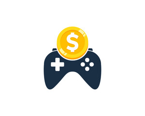 Game Coin Icon Logo Design Element