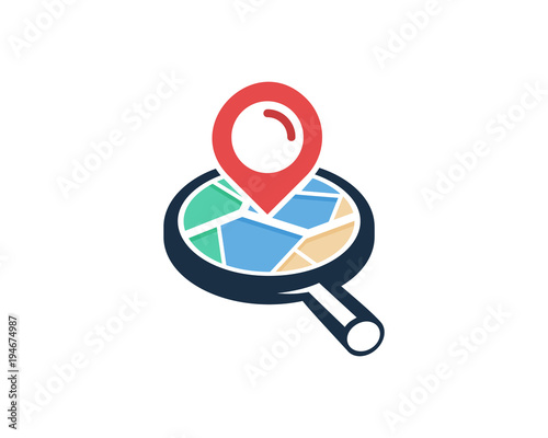 search map icon logo design element stock image and royalty free