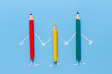 colorful pencils family