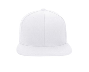 Blank baseball cap color white on white background