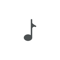 music note icon. sign design