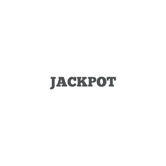 jackpot icon. sign design