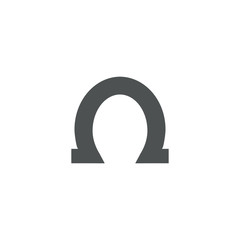 horseshoe icon. sign design