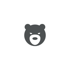 bear icon. sign design